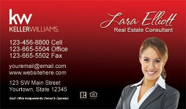 Real estate business cards postcard marketing experts for Keller williams business card templates