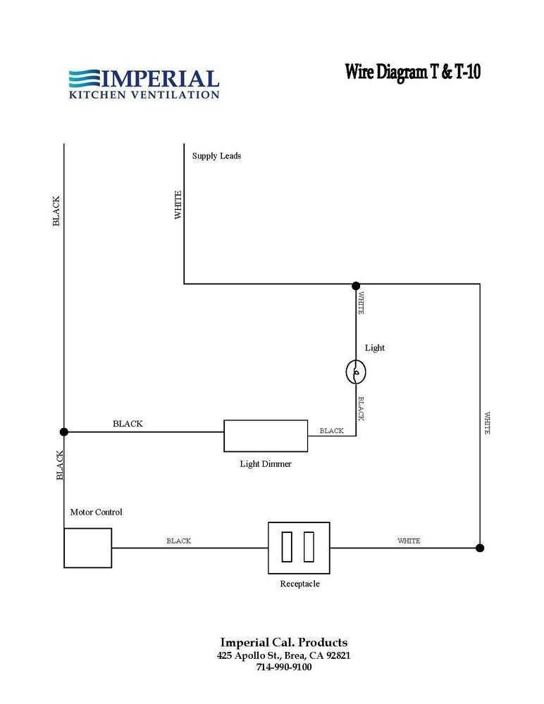range hood wiring diagram imperial n1900t under cabinet range hood 425 cfm range hood wiring #4